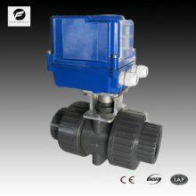 Válvula de esfera motorizada 220v PVC dn40 parafuso fêmea ou flangeada