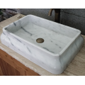 Guangxi rectangle white marble basin