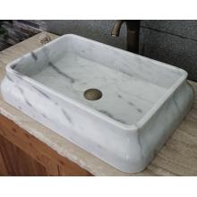 Bacia de mármore branco retângulo Guangxi