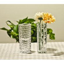 Decoração de vaso de flor de vidro de estilo europeu