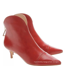 pointed toe zipper fasteneer cowboy riding boot