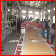 Qingdao weier 3-30mm de espesor wpc máquina de paneles de espuma