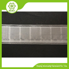 Vorhangkopf, transparentes Vorhangband, Hakenband