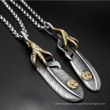 Joyería pendiente étnica de la manera del collar del acero inoxidable de los hombres 316L