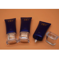 Oval Plastic Cosmetic Tube for Lotion with Applicator