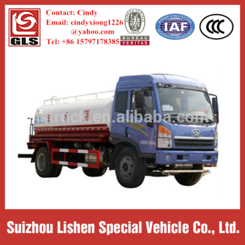 10-15cbm 4X2 FAW Water Bowser Truck