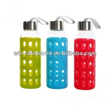 Heat Resistant Promotional Gift Reusable Special Portable Large Colorful Silicone Sleeve Bottle Glass