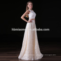 OEM lace flower Long Formal Wedding Party Gowns beaded Evening Dress