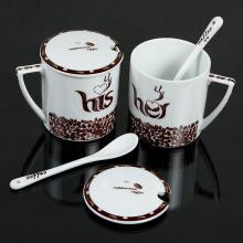 Tasse à café en céramique avec couvercle