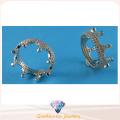 Joyería de la manera para la señora Beatiful Corona Diseño Anillo 925 Anillo CZ de la plata esterlina R10496