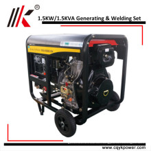 Luftgekühltes Generating & Welding Genset von 1,5 kW Dieselgeneratoren