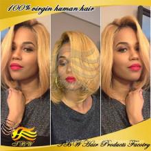 Günstige brasilianische menschliche blonde u Teil Perücke, menschliches Haar kurz u Teil Perücken