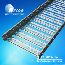 HDG Outdoor Perforated Type Cable Tray Used In Wind Power Project With International Standard