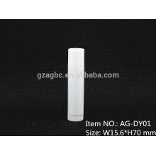 Puro plástico redondo batom tubo recipiente AG-DY01, cor de 11.8/12.1/12.7mm,Custom do tamanho de Copa