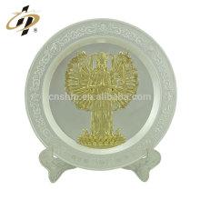 Plaque en métal plaque or avec plaque