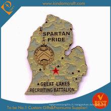 Pièces de récompenses militaires Spartan Pride 2D personnalisées (LN-075)