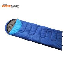 Summer Light Weight Washable Camping Sleeping Bag Envelop Sleeping Bag with Hood