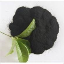 Черный гранулированный порошок гуминовой кислоты из удобрения Леонардита или здания