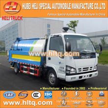 Japan technology 600P cab 4x2 vacuum suction and pressure washing truck 120HP