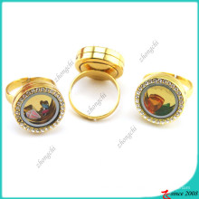 Anneau de rangement de mémoire en or pour bijoux pour adolescents (LR16041206)