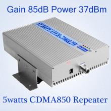Repetidor al aire libre sin hilos 37dBm 850MHz 900MHz 1800MHz G / M Repetidor del repetidor de la señal del teléfono celular 5W