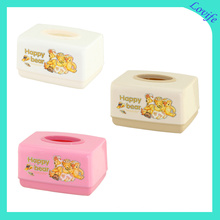 Plastic Rectangle Printed Tissue Boxes (FF-5081-3)