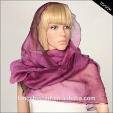 2015 moda mulheres lenço 70% seda 30% lã cachecol e xale