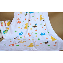 100% Cotton Baby Muslin Swaddling, Baby Bath Towel with 120X140cm