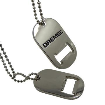 Abridor de garrafas de metal Forma de tag de cão de prata