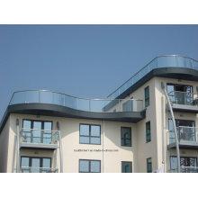 Толщина 12 мм Современное закаленное стекло Балкон