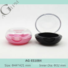 Transparent Lid One Grid Round Eye Shadow Case AG-ES1084, AGPM Cosmetic Packaging, Custom colors/Logo