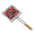 Grillage métallique serti antiadhésif pour barbecue