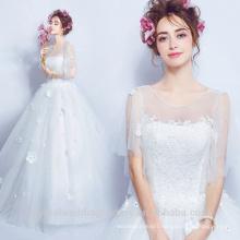 Sexy Quality See Through 2017 Vestidos de Novia Plus Size Puffy Wedding Dresses Lace Ball Gown Wedding Dress MW2200