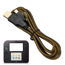 Черное золото Плакировкой порт USB кабель для зарядки для Nintendo DSiXL DSiLL 3ds и 3DSXL 3DSLL зарядное устройство линия данных