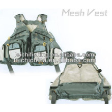 Fly Fishing Green Mesh Vest with Pockets