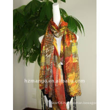 2016 latest 100% polyester printed scarf