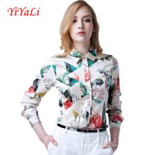 Sommer neue Mode Frauen Chiffon Druck Shirt / Bluse