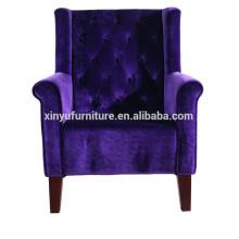 Reception room purple arm sofa chair for sale XY4788