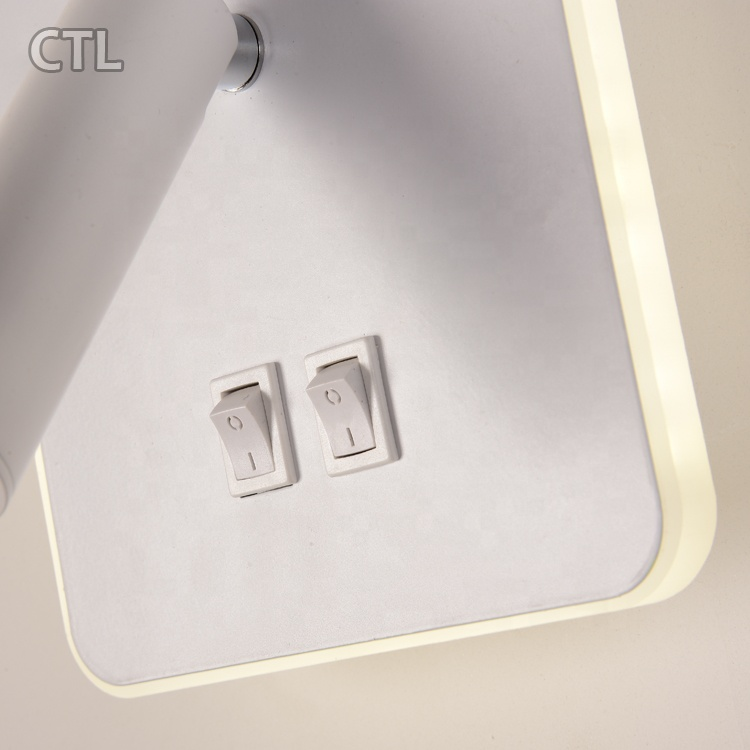 2021 new design energy saving hotel indoor wall lights with swing arm spotlight high lumen home bedside modern led wall lamp