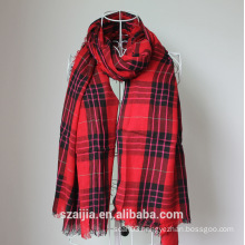 Fashion ladies Viscose checked scarf