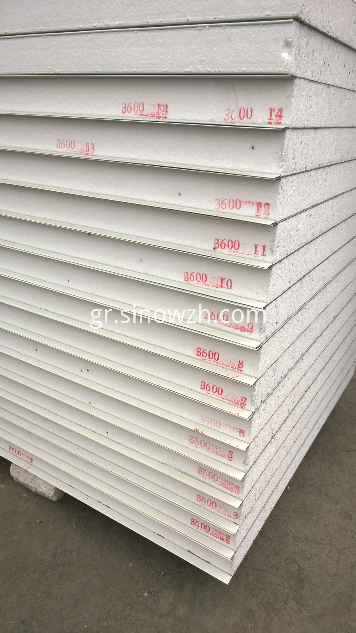 sandwich panel with mark