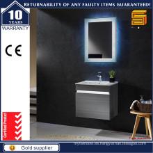Muebles de baño moderno de la vanidad del cuarto de baño de la luz del MDF LED de la melamina