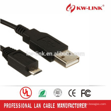 Schwarzes Colro Mikro-USB-Kabel Hochgeschwindigkeits-Datenkabel-Unterstützungs-Mobiltelefon-Gebühr