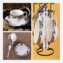 Mode China Kaffeetasse und Untertasse Set Geschenk Tasse Keramik Tasse und Untertasse gesetzt