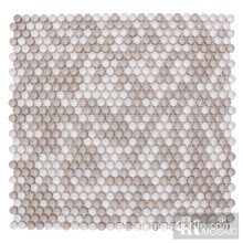 CNK Beige Mix Dots Glass Mosaic