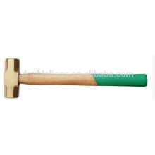 Frappe frappe Non Sparking BeCu béryllium cuivre laiton marteau avec manche en bois
