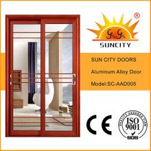 Aluminium Interior Door with Grill Sc-Aad005
