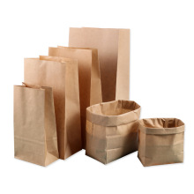 Wholesale recycle white packaging paper bag waterproof manufacturer custom with your own logo brown kraft paper bag