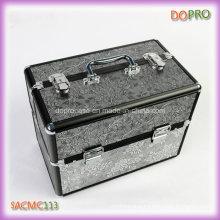 Boîte de kit de maquillage en aluminium de modèle vintage de vanité avec la serrure (SACMC113)