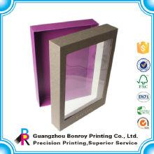 Encantadora y delicada ventana de embalaje de PVC recicla la caja de papel